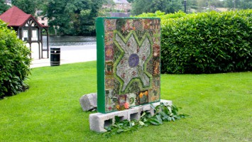 corridor arts well dressing in the river gardens belper