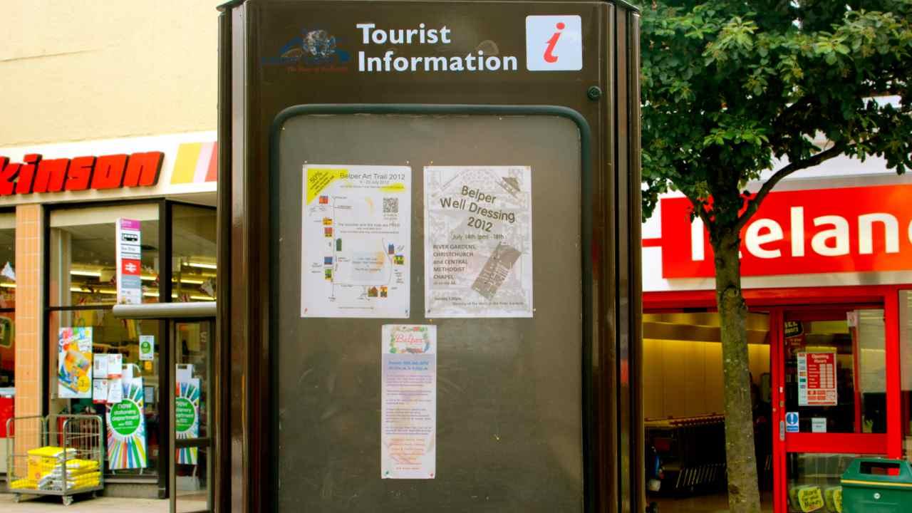 art trail map in tourist info board