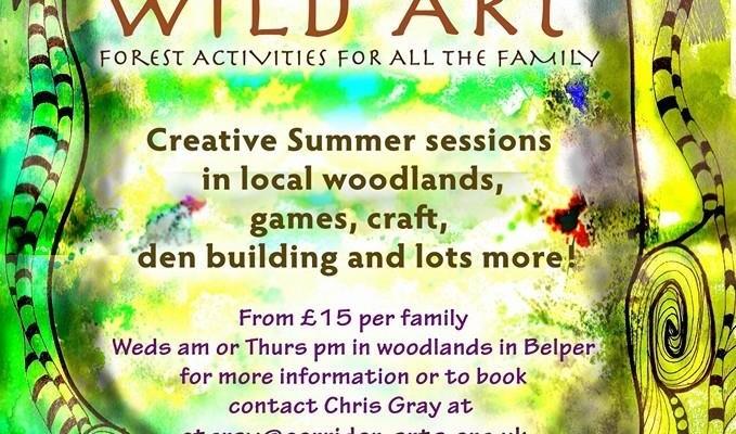 poster for wild art activity in belper