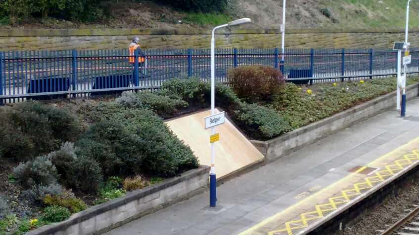 mosaic plinth belper station